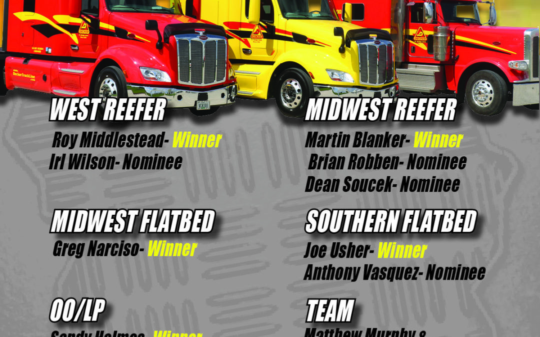 2019 July Drivers of the Month (8/22/2019)