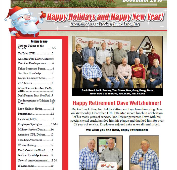2019 December Newsletter (12/24/2019)