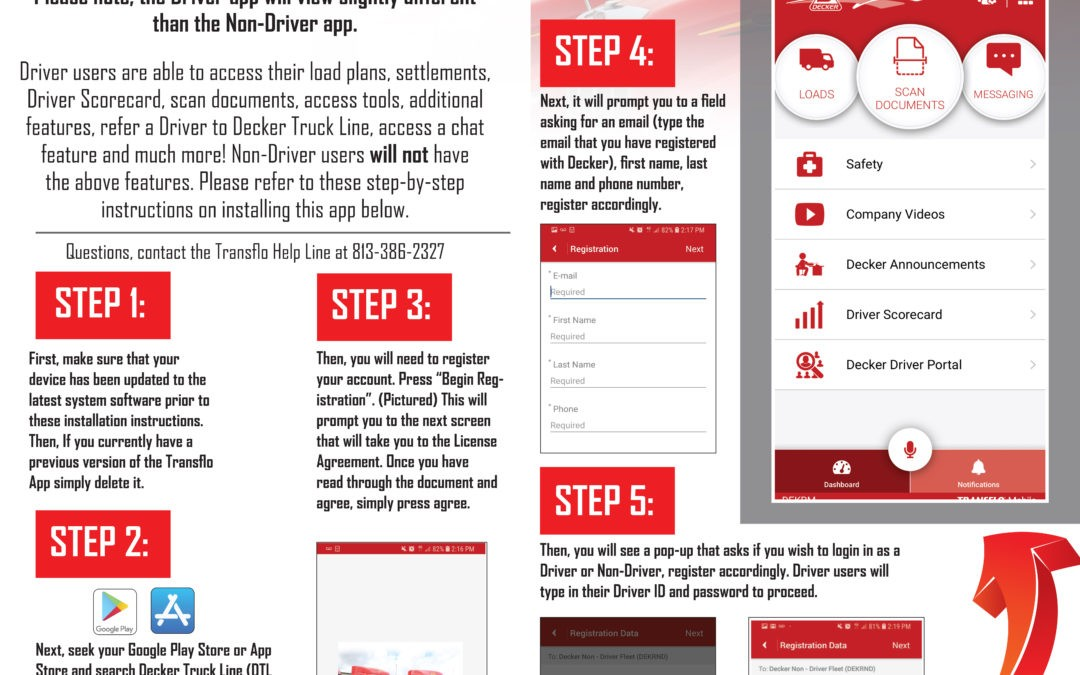 Upgraded Transflo App – Info for all Drivers