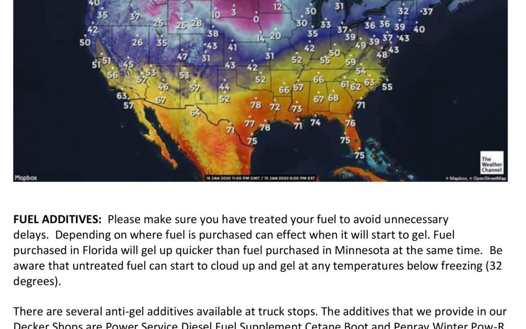 Message to All Drivers – Winter Weather Advisory (1/16/2020)